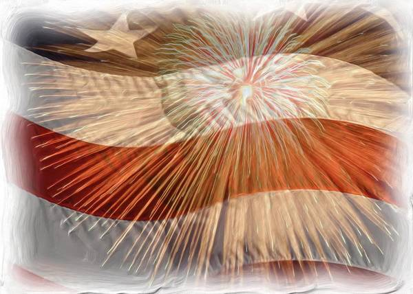 4th Art Print featuring the photograph Bombs Bursting In Air by Heidi Smith