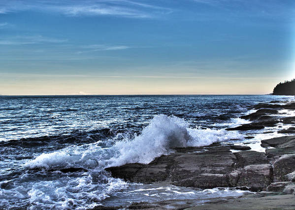 Ocean Art Print featuring the photograph Crescent Bay #1 by Roy Cage