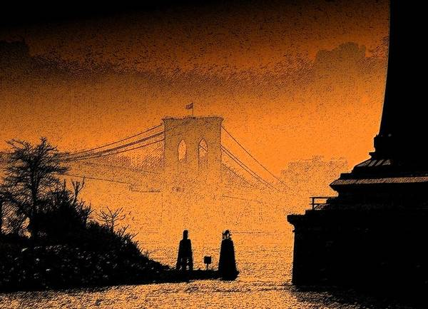 New York Art Print featuring the photograph Distant Bridge by Jeff Watts