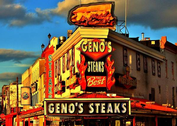 Genos Art Print featuring the photograph Geno's by Benjamin Yeager