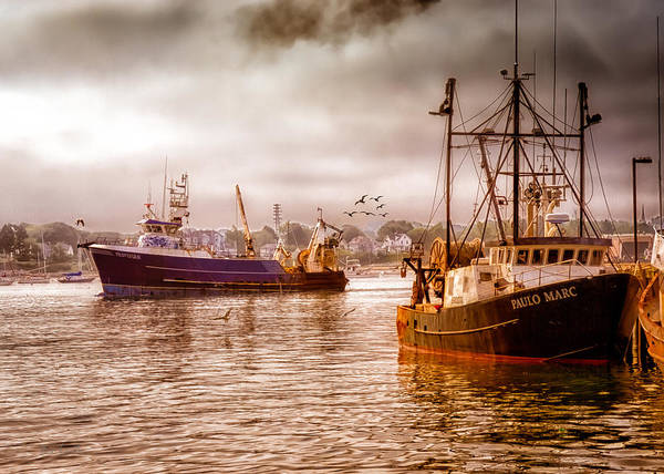 Seascape.dreamscape Print featuring the photograph Heading Out by Bob Orsillo