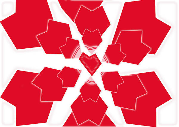 Heart Art Print featuring the digital art Heart Flower 1 by Kristy Jeppson