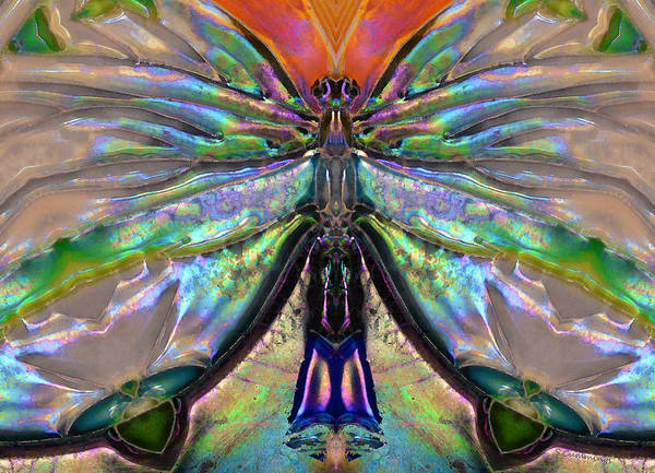 Spirit Art Print featuring the painting Her Heart Has Wings - Spiritual Art By Sharon Cummings by Sharon Cummings