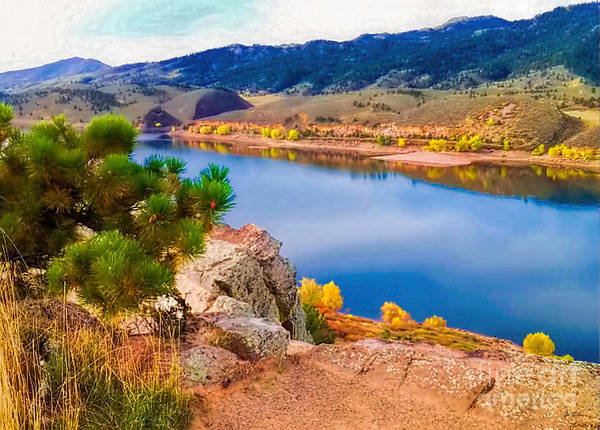 Horsetooth Lake Print featuring the photograph Horsetooth Lake Overlook by Jon Burch Photography