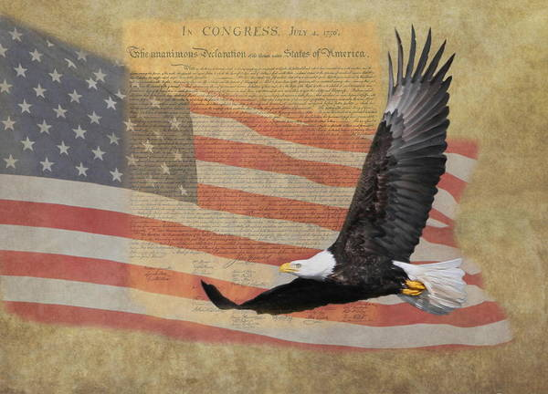 Independence Print featuring the photograph Independence by Angie Vogel
