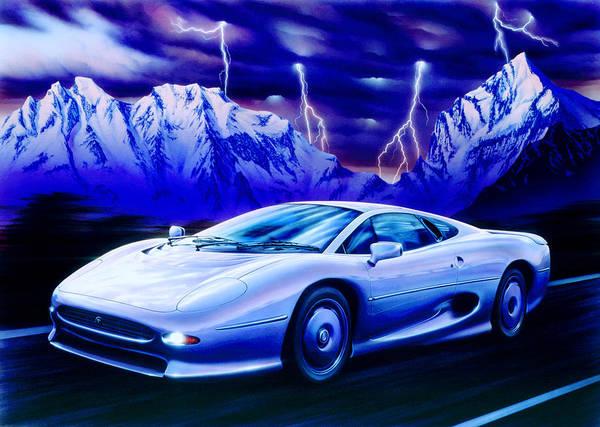 Car Art Print featuring the photograph Jaguar 220 by Garry Walton