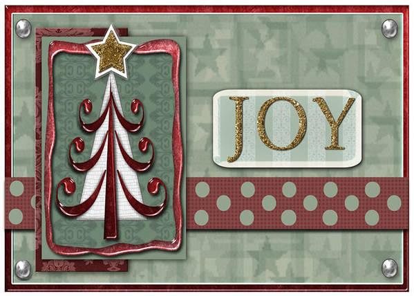 Christmas Art Print featuring the digital art Joyful Tree Card by Arline Wagner