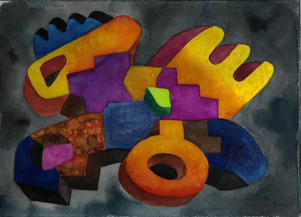 Bolivian Art Print featuring the painting Kivi Pampa Apu by Fernando Ocampo Sandy