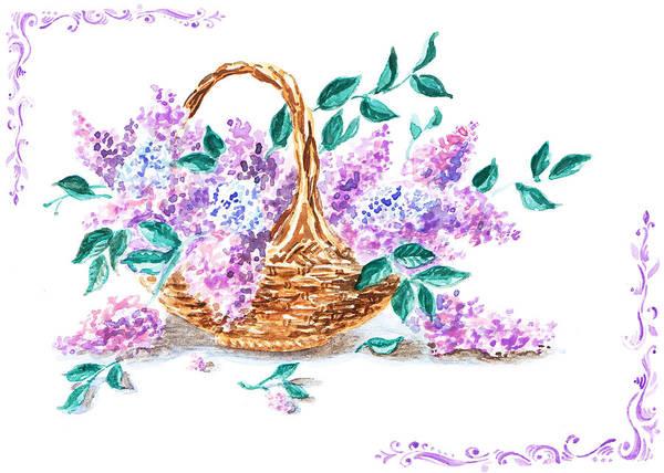 Lilac Art Print featuring the painting Lilac Vintage Impressionism Painting by Irina Sztukowski