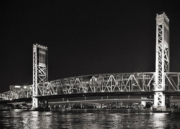 Main Print featuring the photograph Main Street Bridge Jacksonville Florida by Christine Till