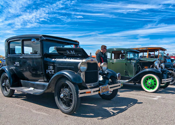 Ford Art Print featuring the photograph Model T Fords by Steve Harrington