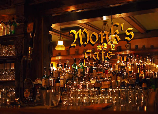 Monk's Cafe Art Print featuring the photograph Monks Cafe by Rona Black