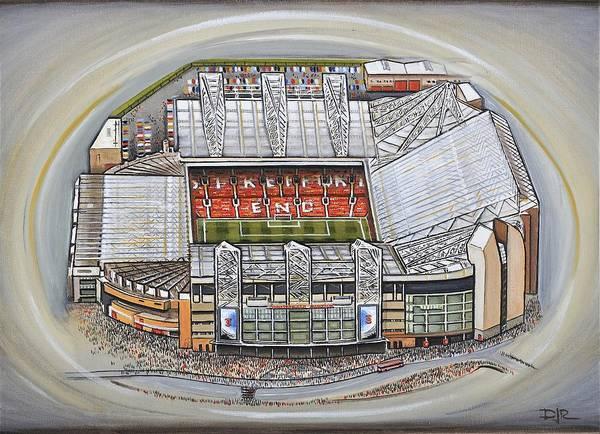 f6f37caf3 Canvas Art Print featuring the painting Old Trafford - Manchester United by D  J Rogers