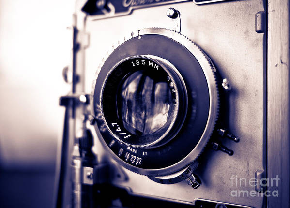 Old Art Print featuring the photograph Old Vintage Press Camera by Edward Fielding