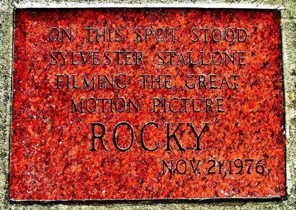 Rocky Art Print featuring the photograph Pats Steaks - Rocky Plaque by Benjamin Yeager