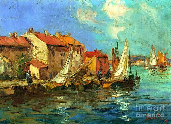 Sail Boats Print featuring the painting Plein Air One by Michael Swanson