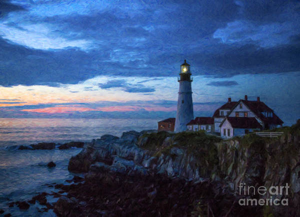 Lighthouse Art Print featuring the photograph Portland Head Lighthouse by Diane Diederich