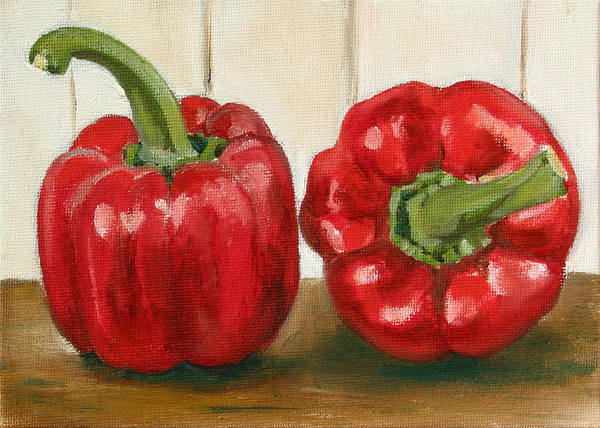Food Art Print featuring the painting Red Pepper by Sarah Lynch