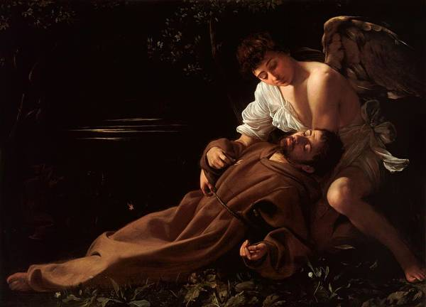 Caravaggio Art Print featuring the photograph Saint Francis Of Assisi In Ecstasy 2 by Caravaggio