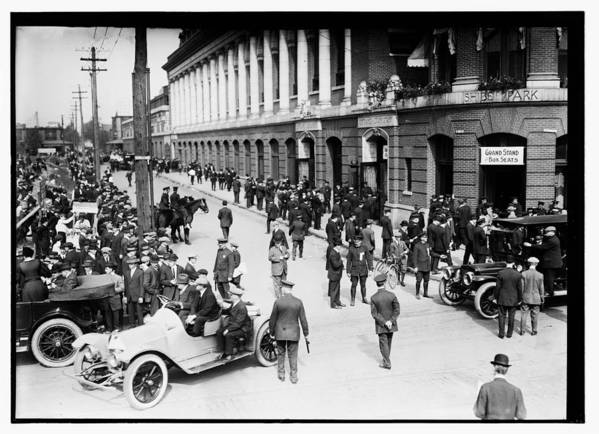 Shibe Park 1914 Art Print featuring the photograph Shibe Park 1914 by Bill Cannon