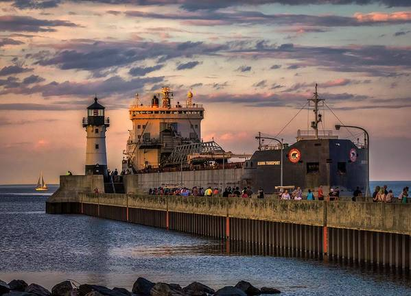 Duluth Art Print featuring the photograph Ship Ahoy by Mary Amerman