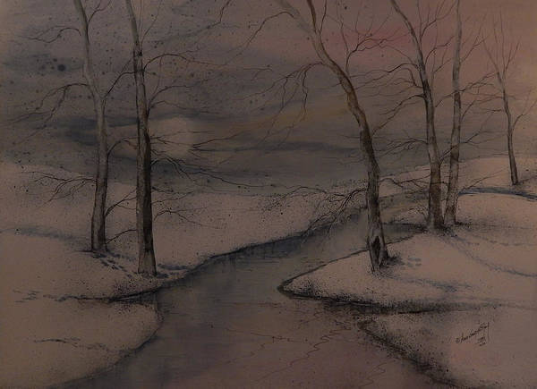 Beautiful Art Print featuring the painting Snowed In by Anna Sandhu Ray