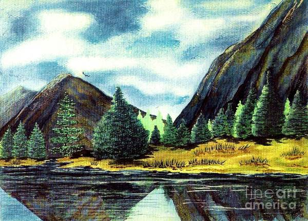 Fine Art Art Print featuring the painting Solitude by Patricia Griffin Brett
