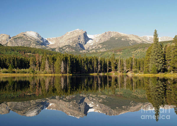 Landscape Art Print featuring the photograph Sprague Lake In Rocky Mountain National Park by Alex Cassels