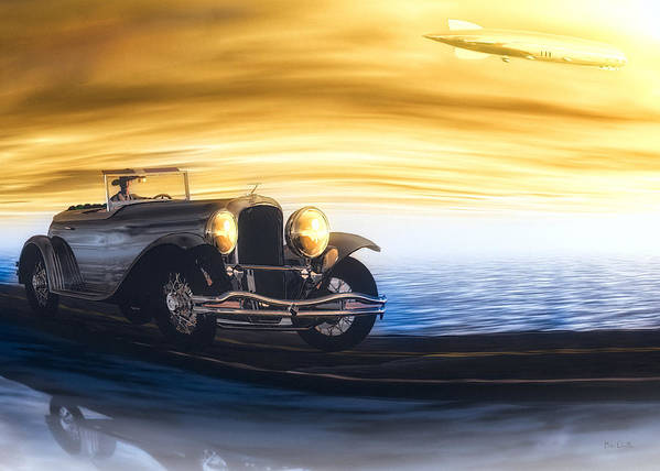 Automobile Art Print featuring the photograph Sunday Drive by Bob Orsillo