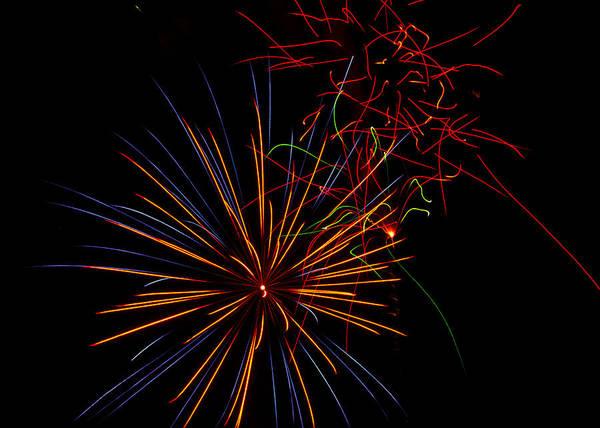 July 4th Art Print featuring the photograph The Art Of Fireworks by Saija Lehtonen