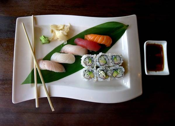 Food Art Print featuring the photograph The Art Of Japanese Food by Olga Breslav