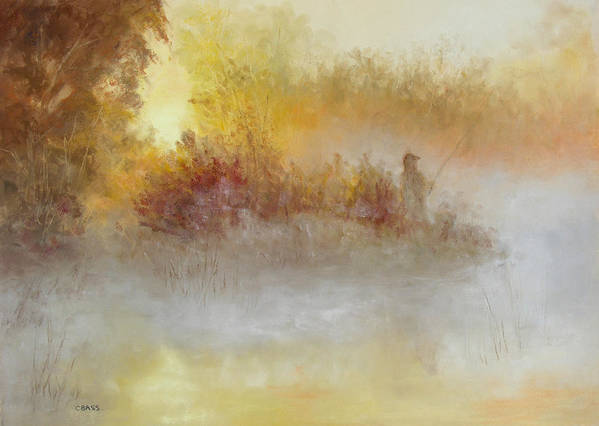 Fishing Art Print featuring the painting The Early Bird by Christine Bass