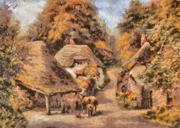 Landscape Art Print featuring the digital art The Old Blacksmiths Forge by Charmaine Zoe