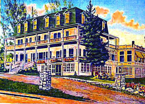 Wilmington Ny Art Print featuring the painting The Tavern Inn In Wilmington N Y In 1910 by Dwight Goss