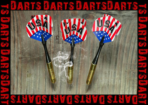 3d Art Print featuring the photograph Three Darts by Tommytechno Sweden