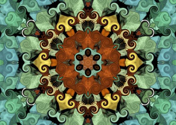 Mandala Art Print featuring the digital art Tourlidou S01-01 by Variance Collections