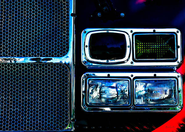 Turn Signal Art Print featuring the photograph Turn Signal Fire Engine Number Five by Bob Orsillo