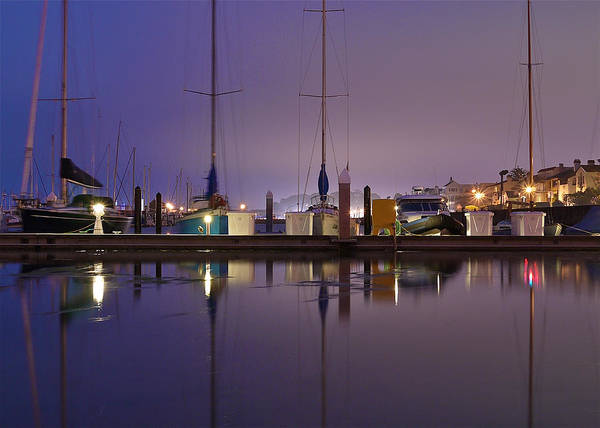 San Francisco Art Print featuring the photograph Twilight On The Dock Of The Bay by Denise Cottin