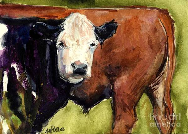 Cows Art Print featuring the painting Upper Field by Molly Poole