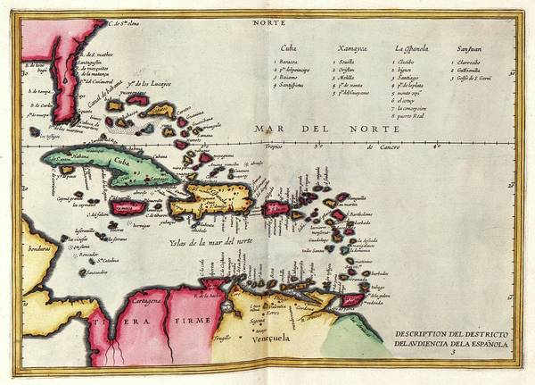 West Indies Art Print featuring the photograph West Indies by Library Of Congress, Geography And Map Division