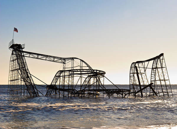 Hurricane Sandy Photographs Photographs Art Print featuring the photograph Wild Ride by Michael Attanasio