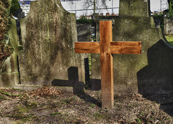 Cross Print featuring the photograph Wooden Cross by Hans Engbers