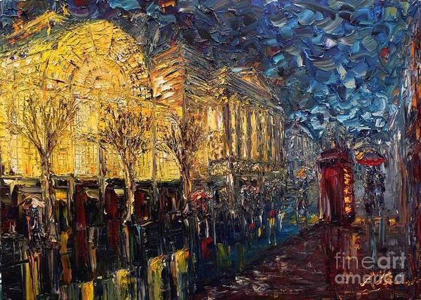 Landscape Art Print featuring the painting Paris by Vishal Lakhani
