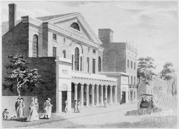 1800 Print featuring the photograph Philadelphia: Theater by Granger