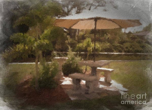 Tan Art Print featuring the photograph A Peaceful Spot by Peggy Starks