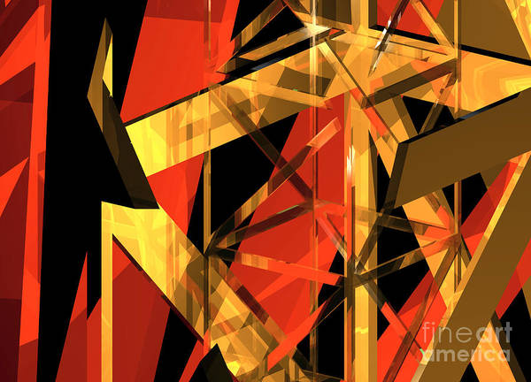 Abstract Art Print featuring the digital art Abstract Tan 2 by Russell Kightley