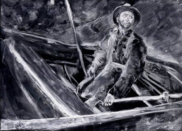 Boat Art Print featuring the painting Adrift by Anthony Shechtman