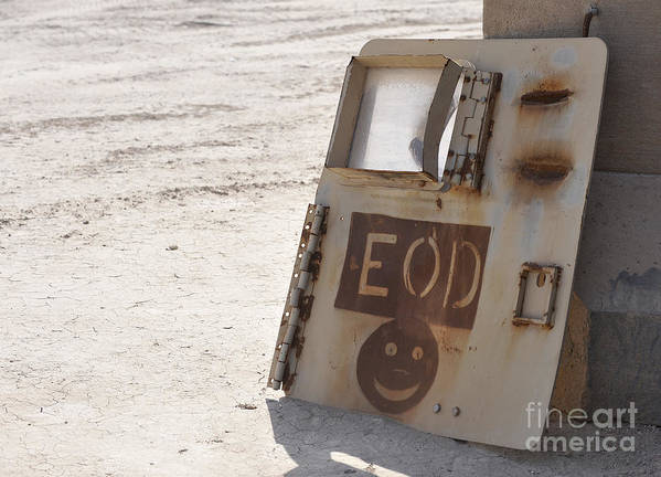 Iraq Art Print featuring the photograph An Explosive Ordnance Disposal Logo by Stocktrek Images