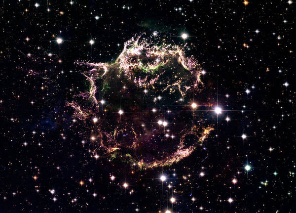 Stars Art Print featuring the photograph Animation Of A Supernova Explosion by Harvey Richer