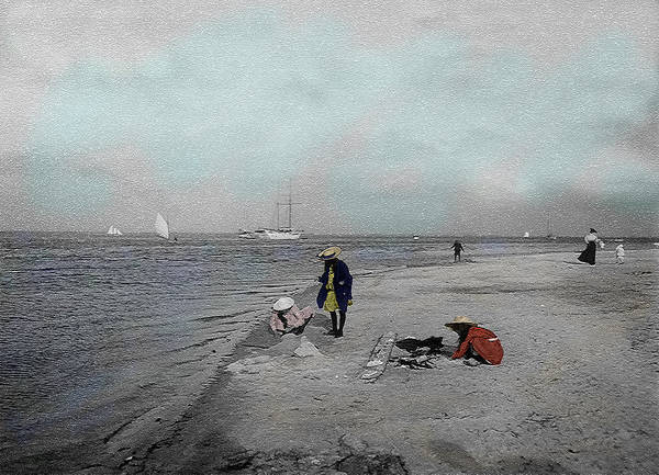 Victorian Art Print featuring the photograph At The Beach by Andrew Fare
